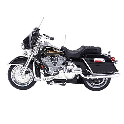 Toy model model van de motorfiets Harrera driewielige simulatie statische legering model van de motorfiets (Kleur: Zwart) LOLDF1 (Color : Black)