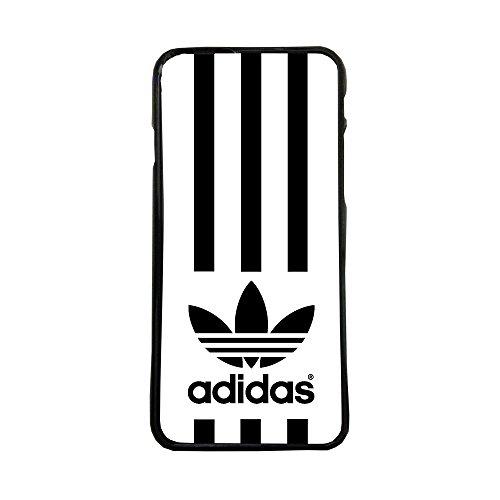 Funda Carcasa de móvil para Apple iPhone 5 5s Logotipo Adidas Logo Tres Rayas TPU Borde Negro