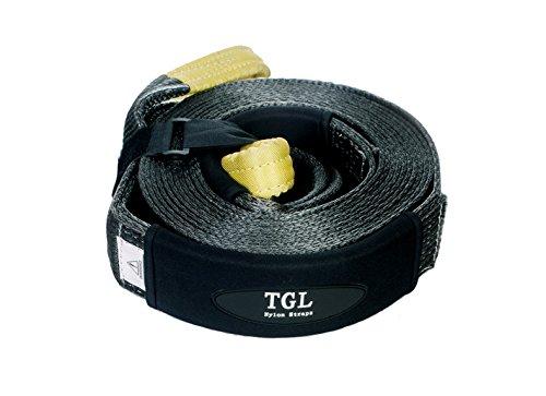 TGL 3 inch, 30 Foot Nylon Recovery Strap, Tow Strap 24,000 Pound Capacity