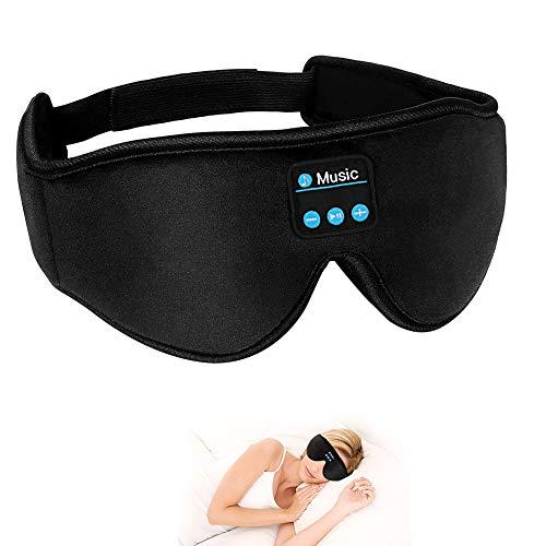Máscara de ojos para dormir, CestMall 3D Bluetooth Sleep 5.0 Máscara con...