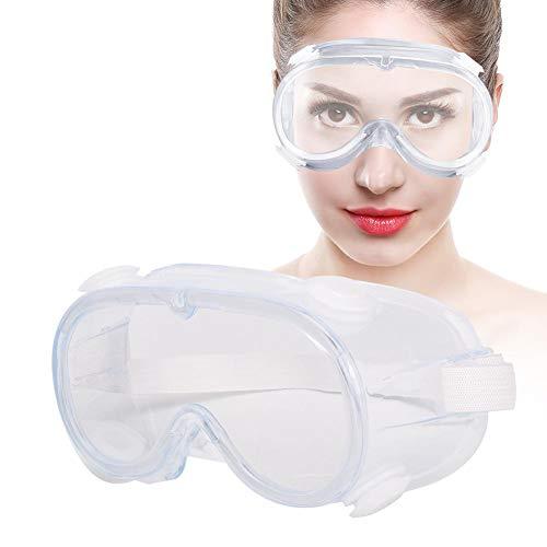 Veiligheidsbril, veiligheids-HD-krasbestendige bril Lens voor mannen en vrouwen, PVC + PC + polypropyleen materiaal, bescherming over een bril Werkbril voor doe-het-zelf(niet anti-condens)