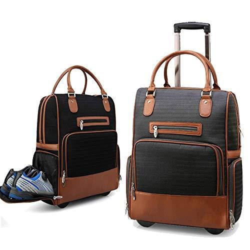 LLKK Sport Gym Bag Sport Golf Trolley Valigia Palestra Sport Duffel Bag con Scarpa Vano Fitness e Borsa Da Viaggio Pernottamento (Colore: Caffè, Dimensioni: 38x24x48cm)