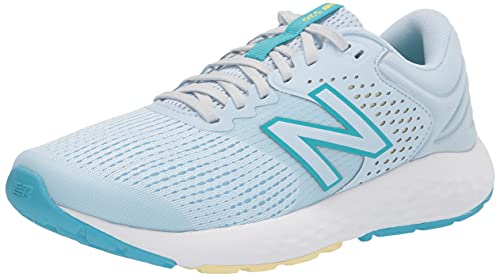 New Balance Women's 520 V7 Running Shoe, Grey/Yellow/Blue, 9