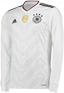 adidas Men's Germany 17/18 Home Long Sleeve White/Black Jersey