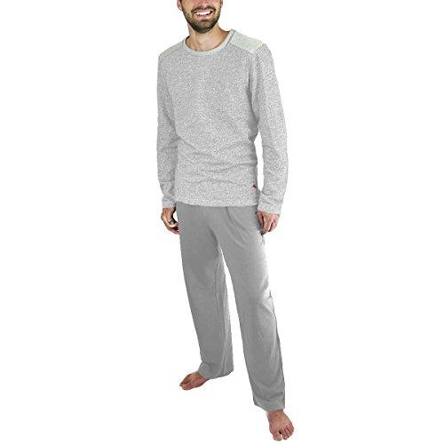 Tommy Bahama Men's Pajama Set, Crew Neck Top and Drawstring Pant. Grey, Medium