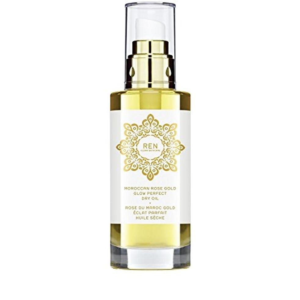真似る欲望愛撫REN Moroccan Rose Gold Glow Perfect Dry Oil 100ml (Pack of 6) - モロッコは金が完璧なドライオイル100ミリリットルグローバラ x6 [並行輸入品]