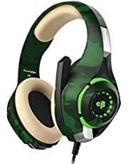 Cosmic Byte GS410 Headphones with Mic and for PS4, Xbox One, Laptop, PC, iPhone and Android Phones (Camo Green)
