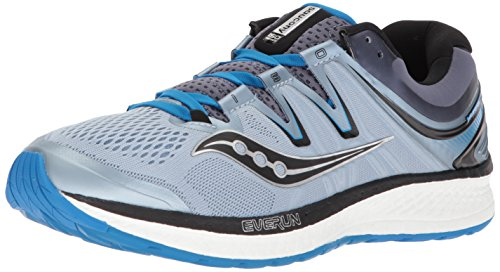 Saucony Men's Hurricane ISO 4 Running Shoe, Grey/Blue, 8 Wide US