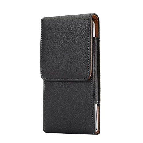 Vertical PU Leather Belt Clip Holster Cell Phone Case Belt Loop Pouch Smartphone Holder for Google Pixel 4a Pixel 5/ Samsung Galaxy A01 S10e A10e J5 J3 J2/ iPhone 11 Pro/SE 2020/X XS 8 7/ Moto G7 Play
