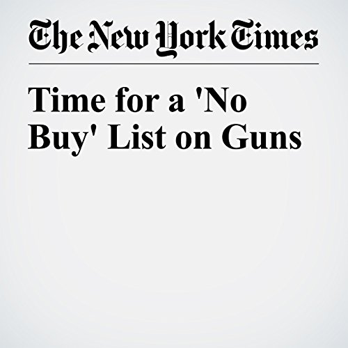 Time for a 'No Buy' List on Guns audiobook cover art