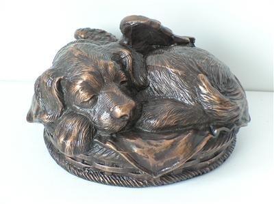 Ever My Pet Angel Dog Pet Urn Metallic Copper Small