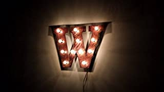 Marquee lighted letter 24 inch tall, in aged copper.