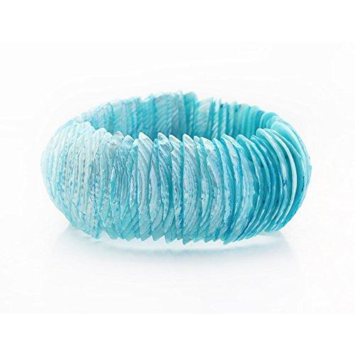 Impresionante cielo Azul de estiramiento de la pulsera del brazalete Trochus
