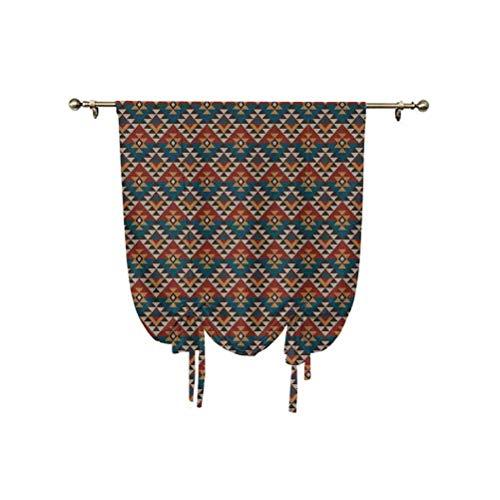 Cortinas opacas de decoración nativa americana, de punto étnico, con vista jacquard, geométrica, decorativas, aisladas térmicas, 107 x 150 cm, para dormitorio de niños