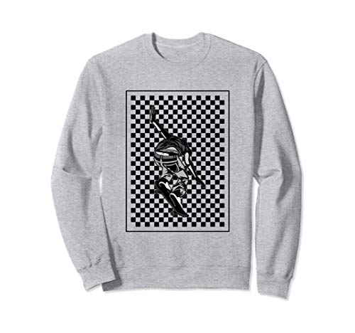 Checker Pattern Checkerboard Skater Patineta adolescente Sudadera