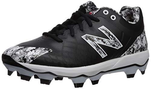 New Balance Men's 4040 V5 TPU Molded Baseball Shoe, Black/Camo Pedroia, 8 M US