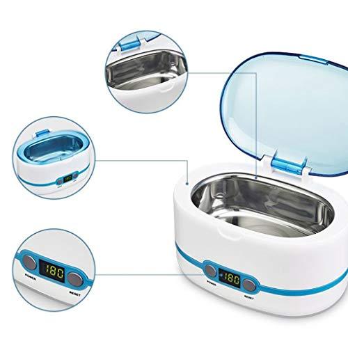 NSDFG Ultraschallreiniger Ultraschall-Reinigungsgerät, Automatische Abschaltung, 750ml Kapazität Geeignet for Gläser, Halsketten, Ohrringe, Armbänder, Elektronik, Uhren, Gebiss-Reinigungs Mini-Waschma