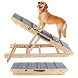 High Traction Dog Ramp, Folding Portable Wooden...