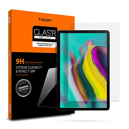 Spigen Tempered Glass Screen Protector Designed for Galaxy Tab S6 10.5inch / Galaxy Tab S5e 10.5inch(2019) [9H Hardness/Case-Friendly]