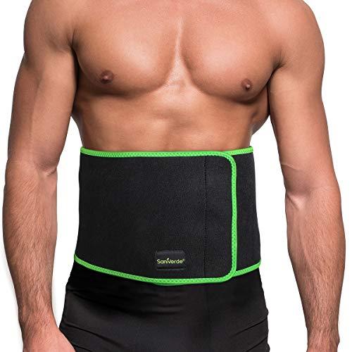 SaniVerde Rückenbandage Waist Trainer mit Klettverschluss - entlastet die Rückenmuskulatur, Lendenwirbelstütze zur Haltungskorrektur (L/XL)