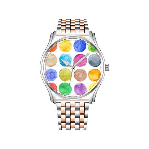 Reloj de hombre de acero inoxidable, color oro rosado, diseño deportivo, color...