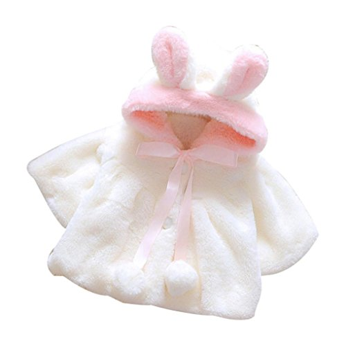kingko® 1Réglez nouveau-né de Noël de fille de bébé Vêtements Romper Bodysuit Jambières Tenues (24M, blanc)