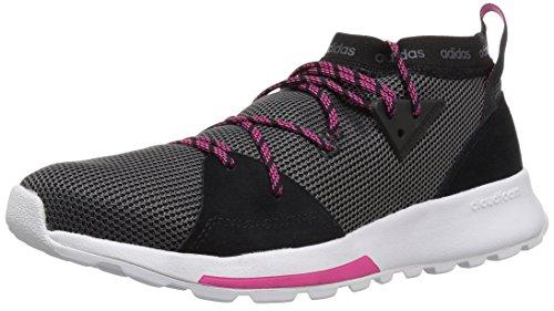 adidas Women's Quesa Running Shoe, Black/Grey/Shock Pink, 6.5 M US