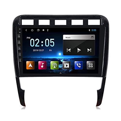 Flower-Ager Android 10 Autoradio mit Navi Für Porsche Cayenne, 2-DIN Auto MP5 Player mit HD Touchscreen unterstützt 4G WiFi Mirrorlink Bluetooth Freisprechen Anrufunterstützung,M150b,2+32G