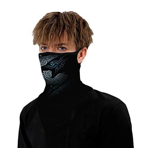 WOZNLOYE Face Shield - Pañuelo multifunción para motocicleta, unisex, protección facial, pañuelo para la cabeza, pañuelo triangular, Hombre, color F-1., tamaño Talla única