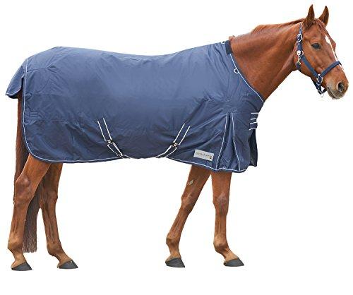 Amesbichler Waldhausen paarden outdoordeken wilgendeken winterdeken met fleece binnenvoering en ademend, kruisriemen en beenkoorden, 145 cm