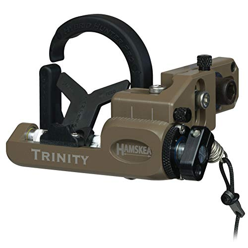 Hamskea Archery Solutions Trinity Hunter Pro Right-Handed Coyote Micro Tune Arrow Rest for Bowhunting (211775)