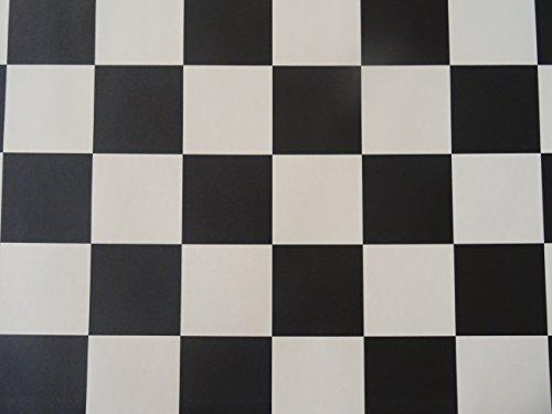 PVC in Schachbrett-Optik, schwarz-weiß - von Alpha-Tex 9.95€/m² (kleines Musterstück)