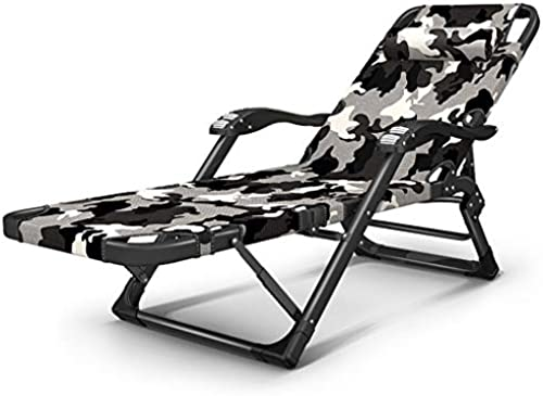 Klappstühle Stuhl Mittagspause Stuhl Faul Zurück Home Multifunktions Nap Bett Sommer Freizeit Strandkorb Composite Oxford (Farbe   Tarnung)