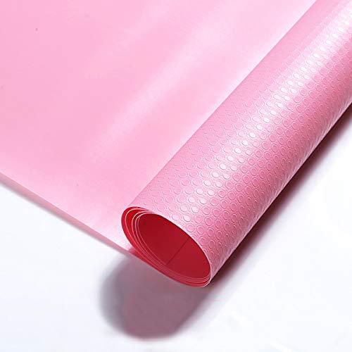 LOKIH Plastico Protector para Cocina Cajones Alfombras Non Adhesivo para Nevera Mueble Fregadero Estante Organizador Cubiertos EVA, 7 Colores A Elegir 45X1000cm,Rosado