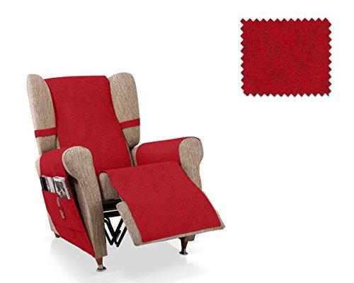 JM Textil Copripoltrona Relax Pharma Dimensione 1 Piazza (55 Cm.), Colore Rosso