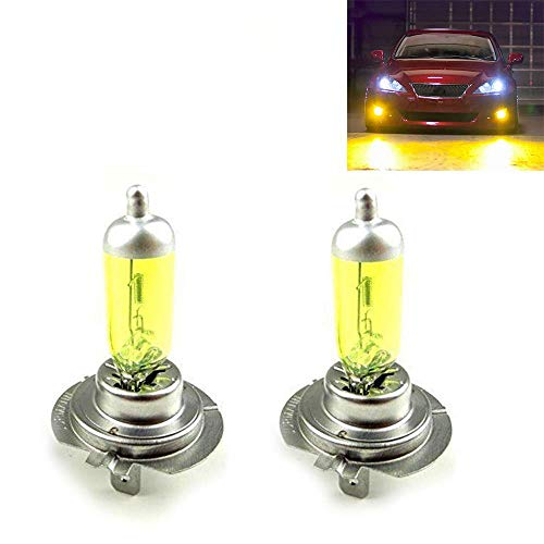 2x H7 GOLD 12V 100W JURMANN GELB YELLOW AQUA VISION HALOGEN LAMPEN JURMANN