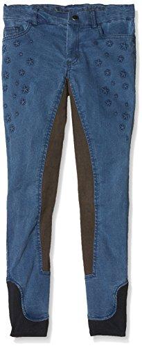 Bibi & Tina Kinder Jeans-Reithose-Girls vs. Boys Stars, Jeansblau, 140