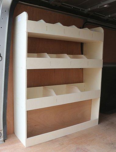 Renault Trafic LWB pre 2014 NS Achterlicht Plywood Van Shelving – Racking Storage System – Gereedschapsrek