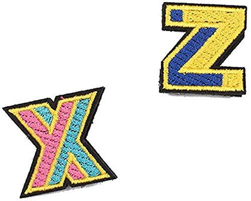 Zhongyanxin Xiao Zhan Wang Yibo Gleichen Brosche Englische X Z Buchstabe Bestickt Brosche Korsage mit Schmuck Wild Personality Abzeichen - Zoll X+Y Zoll