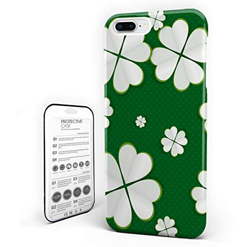 iPhone 6 Case/iPhone 6s Case St. Patrick's Day Design Hard Plastic PC Ultra Thin Protective Phone Case Cover Compatible iPhone 6/6s (4.7 inch) Celtic Irish Clover Celebration Green White