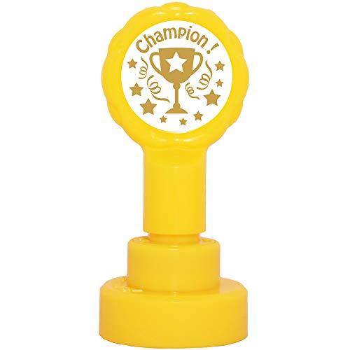 Champion Trophée Tampon Encreur Enseignants. Or -22mm, Re-éncrable