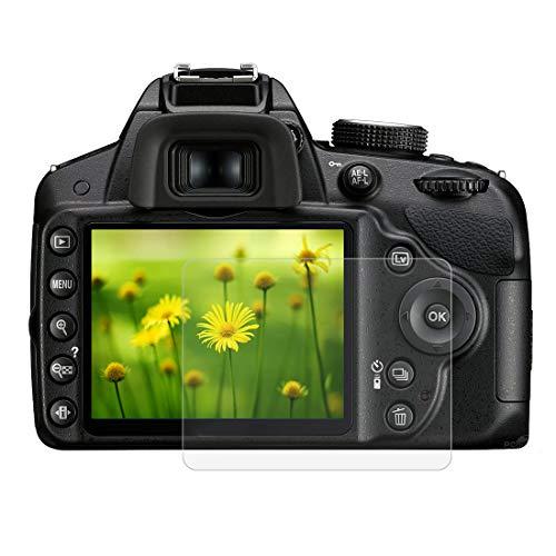 BYbrutek Protector de Pantalla de Vidrio Templado para Nikon D3200/D3300, 0,3 mm, Ultratransparente, Lámina de protección LCD con Dureza 9H, Antiarañazos, sin Burbujas, Antihuellas (D3200/D3300)