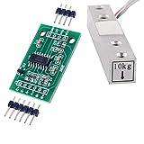 10 kg Sensor de peso Celda de carga Báscula electrónica de cocina + HX711 AD Módulo de pesaje para Arduino WIshiot