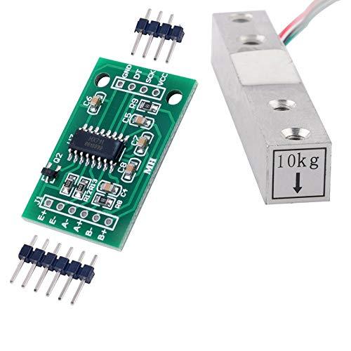HX711 Gewichtssensor AD-Modul mit 10 KG Waage Wägezelle für Arduino Raspberry Pi DIY