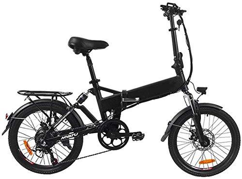 Alta velocidad Bicicleta eléctrica plegable del viajero urbano E-bici Velocidad máxima 32 kilometros / h 20 pulgadas súper ligero extraíble de carga de la batería de litio unisex de montaña de la bici