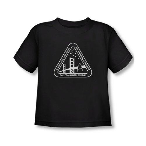 Star Trek - - Tout-petit logo blanc T-shirt Académie In Black, 2T, Black