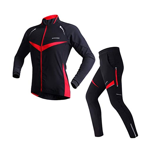 Fietskleding Warm Riding met lange mouwen kleur winddicht Bicycle Kleding Suit Unisex