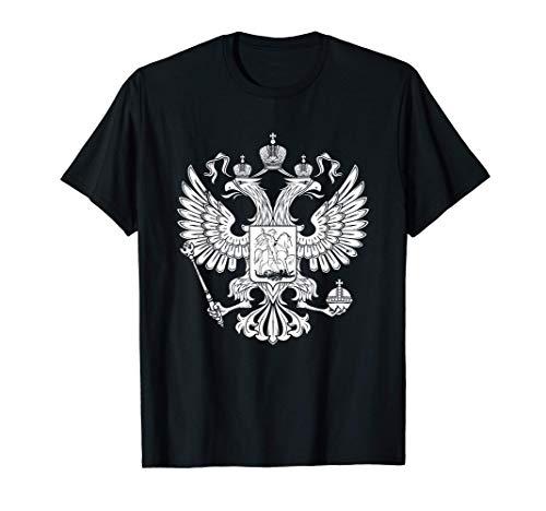 Russicher Adler Doppelkopf Russische Flagge Geschenk T-Shirt