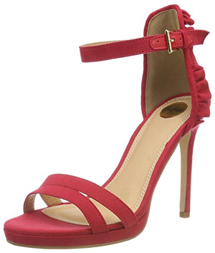 Buffalo 316383 Bhwmd B609# Imi Sue, Sandales Bride Cheville Femme, Rouge (Red), 40 EU