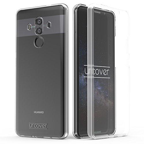Urcover Hülle kompatibel mit Huawei Mate 10 Pro I 360 Grad Rundum-Schutz Full Cover [Unbreakable Case bekannt aus Galileo] Crystal Clear Full Body Case Handy-Tasche Schale - Transparent